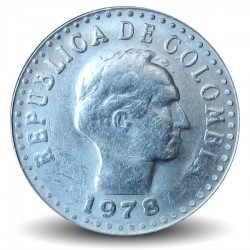 COLOMBIE - PIECE de 10 Centavos - Francisco de Paula Santander - 1978 Km#253