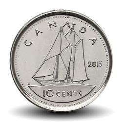 CANADA - PIECE de 10 CENTS - Elizabeth II - Goélette Le Bluenose - 2015 Km#492