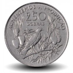 SAO TOMÉ-ET-PRINCIPE - PIECE de 250 Dobras - Oiseau sur une branche - 1997