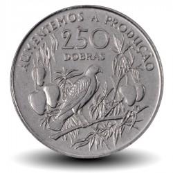 SAO TOMÉ-ET-PRINCIPE - PIECE de 250 Dobras - Oiseau sur une branche - 1997 Km#88