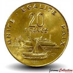 DJIBOUTI - PIECE de 20 FRANCS - Vue du port de Djibouti - 1999