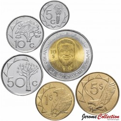 NAMIBIE - SET / LOT de 6 PIECES - 5 10 50 Cents 1 2 5 DOLLARS - 2010 2012