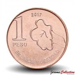 ARGENTINE - PIECE de 1 Peso - Arbre Jacaranda - 2017