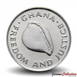GHANA - PIECE de 20 Cedis- Coquillage Cauri - 1997 Km#30
