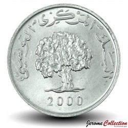 TUNISIE - PIECE de 1 Millime - Chêne-liège - FAO - 2000
