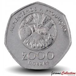 SAO TOMÉ-ET-PRINCIPE - PIECE de 2000 Dobras - Plantes Tropicales - FAO - 1997