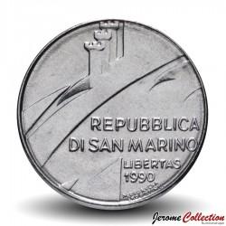 SAINT-MARIN - PIECE de 100 Lires - La Justice - 1990