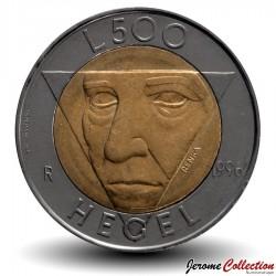 SAINT-MARIN - PIECE de 500 Lires - Friedrich Hegel - 1996 Km#357