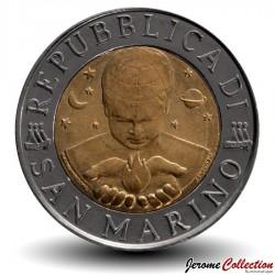 SAINT-MARIN - PIECE de 500 Lires - Friedrich Hegel - 1996