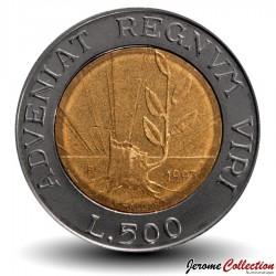 SAINT-MARIN - PIECE de 500 Lires - Advenat Regnum Viri - 1993 Km#301