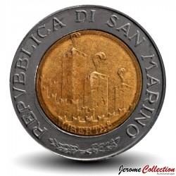 SAINT-MARIN - PIECE de 500 Lires - Advenat Regnum Viri - 1993