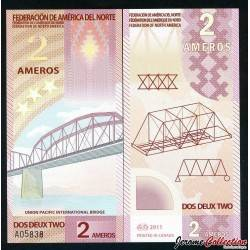 FEDERATION DE L'AMERIQUE DU NORD - Billet de 2 Ameros - Polymer - 2011 0002