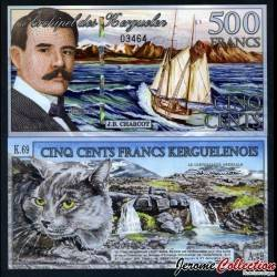 KERGUELEN - 500 Francs - J.B Charcot - Bateau / Chat - 15 01 2011