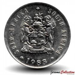 AFRIQUE DU SUD - PIECE de 1 Rand - Springbok - 1983