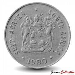 AFRIQUE DU SUD - PIECE de 50 Cents - Fleurs d'Afrique du Sud - 1980