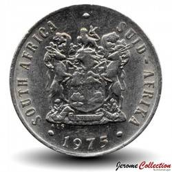 AFRIQUE DU SUD - PIECE de 20 Cents - Fleur protée royale - 1975