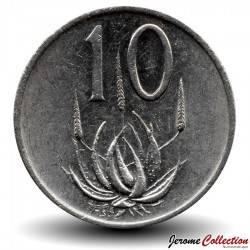 AFRIQUE DU SUD - PIECE de 10 Cents - Aloe véra - 1984 Km#85a