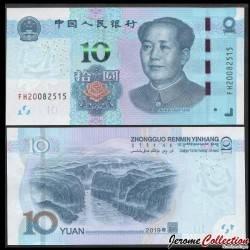 CHINE - BILLET de 10 Yuan - Les trois gorges du yangtsé - 2019 Pnew