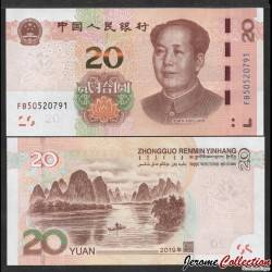 CHINE - BILLET de 20 Yuan - Paysage de Guilin - 2019