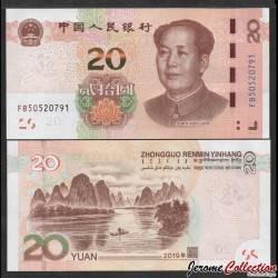 CHINE - BILLET de 20 Yuan - Paysage de Guilin - 2019 Pnew