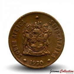 AFRIQUE DU SUD - PIECE de ½ Cent - Moineaux du Cap - 1970