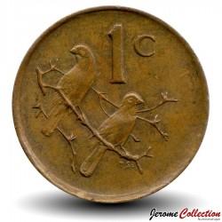 AFRIQUE DU SUD - PIECE de 1 Cent - Moineaux du Cap - 1978 Km#82