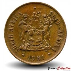 AFRIQUE DU SUD - PIECE de 2 Cents - Gnou noir - 1981