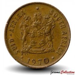 AFRIQUE DU SUD - PIECE de 2 Cents - Gnou noir - 1970
