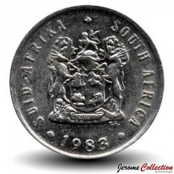 AFRIQUE DU SUD - PIECE de 5 Cents - Grue de paradis - 1983