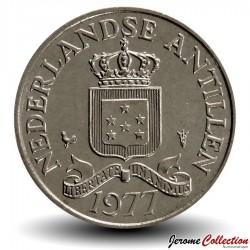 ANTILLES NEERLANDAISES - PIECE de 25 Cents - 1977