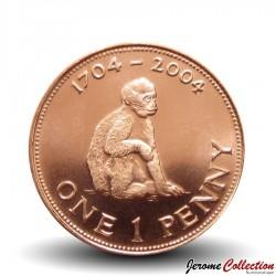 GIBRALTAR - PIECE de 1 Pence - Tricentenaire de la bataille de Trafalgar - 2004 Km#1046