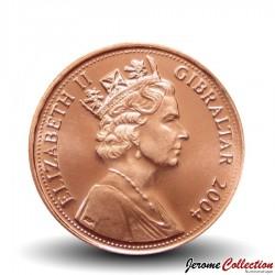 GIBRALTAR - PIECE de 1 Pence - Tricentenaire de la bataille de Trafalgar - 2004