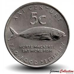 NAMIBIE - PIECE de 5 Cent - Fao - 2000