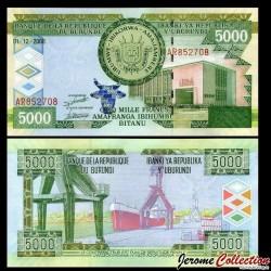 BURUNDI - Billet de 5000 Francs - Port de bujumbura - 2008