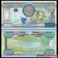 BURUNDI - Billet de 2000 Francs - Lac - 2008