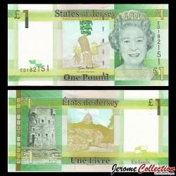 JERSEY - Billet de 1 Pound - Tour du Hocq - 2010 P32a