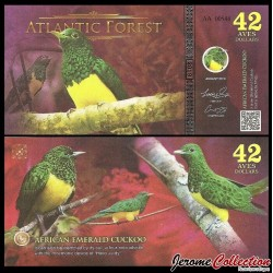 ATLANTIC FOREST - Billet de 42 Aves - Oiseau Coucou foliotocol - 2019