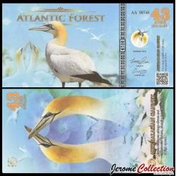 ATLANTIC FOREST - Billet de 43 Aves - Oiseau Fou austral - 2019 0042 AVES
