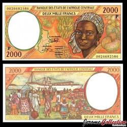 TCHAD (BEAC) - Billet de 2000 Francs - Jeune Africaine - 2000 P603Pb - Lettre P