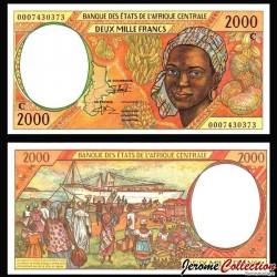 CONGO (BEAC) - Billet de 2000 Francs - Jeune Africaine - 2000 P103Cg - Lettre C
