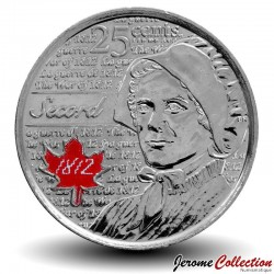 CANADA - PIECE de 25 Cents - Guerre de 1812 - Laura Secord - 2013 - Colorisée