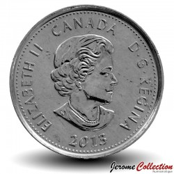 CANADA - PIECE de 25 Cents - Guerre de 1812 - Laura Secord - 2013 - Colorisée