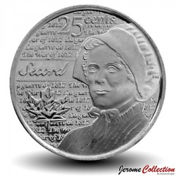 CANADA - PIECE de 25 Cents - Guerre de 1812 - Laura Secord - 2013
