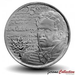 CANADA - PIECE de 25 Cents - Guerre de 1812 - Charles-Michel d'Irumberry de Salaberry - 2013 Km#New
