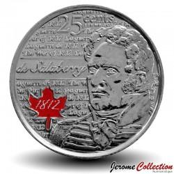 CANADA - PIECE de 25 Cents - Guerre de 1812 - Version Colorisée