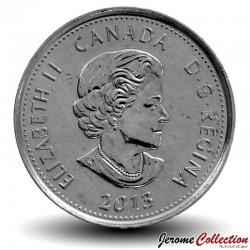 CANADA - PIECE de 25 Cents - Guerre de 1812 - Salaberry - 2013 - Colorisée