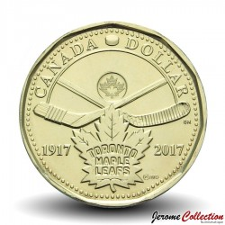 CANADA - PIECE de 1 DOLLAR - Maple Leafs de Toronto - 2017