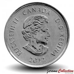 CANADA - PIECE de 25 Cents - Guerre de 1812 - Sir Isaac Brock - 2012 - Colorisée