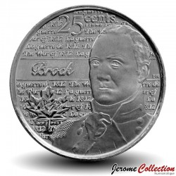 CANADA - PIECE de 25 Cents - Guerre de 1812 - Sir Isaac Brock - 2012