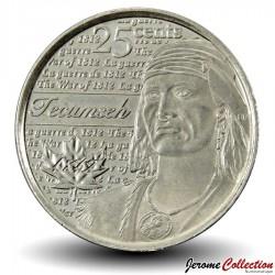 CANADA - PIECE de 25 Cents - Guerre de Tecumseh de 1812 - 2012